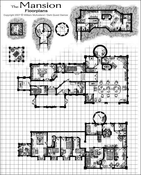 Fantasy Castle Floor Plans http://www.mcauslandstudios.com/Medieval-Fantasy-Mansion-floorplan.htm