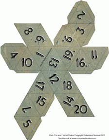 Free Paper Dice Downloads From Mcausland Studios For